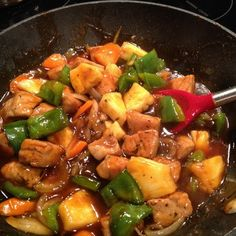 Sweet and Sour Pork - seasoned with Emeril's famous Essence and tossed in a deliciously sweet sauce with green pepper, onion, carrots, and pineapple -- BAM!