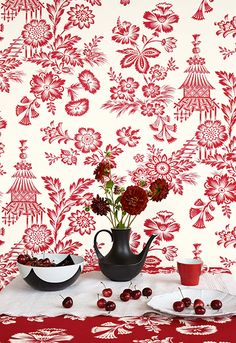 Chinoiserie Modern Schumacher Wall Coverings