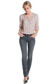Esprit - Stretch-Denim mit Destroyed-Effekten im Online Shop kaufen Im Online, Grey Skinny Jeans, Stretch Denim, Neue Trends, Stretches, Clothing, Pants, Shopping, Style