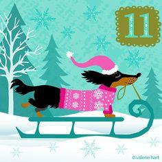 Advent Christmas Countdown ~ December 11th  |  ValerieHart.com