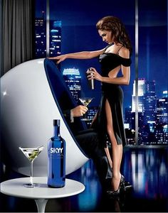"""this-is-first-class: """"Skyy Vodka; This Is First Class ♔ """" Skyy Vodka, Luxury Couple, All Black Dresses, Smooth Jazz, Greggs, Cocktail Drinks, Cocktails, How To Look Better, Sexy Women"""