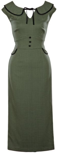 An Olive Green Nouvea Fitted Stop Staring! Dress will show off your gorgeous…