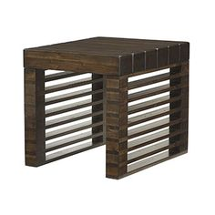 Hammary Furniture - High Point, NC - HIDDEN TREASURES :: STACKED WOOD RECTANGULAR END TABLE
