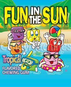 Fun in the Sun Gum Tablets