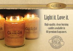 Crossroad Candles!! Just stocked up on my fav. fall scents!! 12 candles and reed diffusers. :) Im a happy girl!!