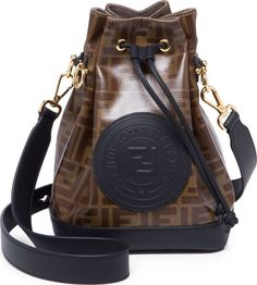 becf3b365cfa5 Fendi Mon Tresor Logo FF Small Bucket Bag