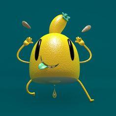 JAUNE LEMON Lemon, 3d, Stone