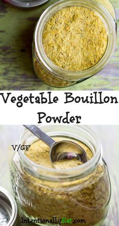 This vegetable bouillon powder adds incredible flavor to soups, stock and chowders, plus it is quick and easy to make. You can feel good about this healthy bouillon because it is free from chemicals and additives. Homemade Dry Mixes, Homemade Spices, Homemade Seasonings, Canning Recipes, Soup Recipes, Whole Food Recipes, Vegetarian Recipes, Freezer Recipes, Freezer Cooking
