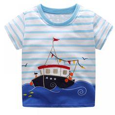 bada8303c3e5 Boys Summer Clothes Children T shirts 2018 Brand Tee Shirt Fille Cotton  Tops Kids Clothing Animal Pattern Baby Boy T-shirts