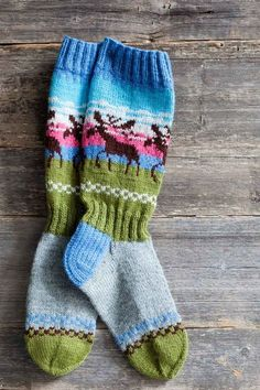 Finnish champion socks - Knitting and Crochet - The Great Handicrafts Crochet Socks, Knitting Socks, Hand Knitting, Knit Crochet, Knitted Slippers, Knit Socks, Crochet Granny, Champion Socks, Fair Isle Knitting