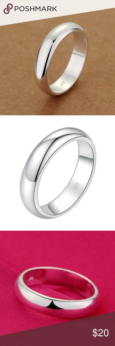 Silver Plated Women's/Men's Bold Ring Brand new! classic fashion men / women 925 jewelry silver plated ring. 🎈SALE🎈 Get a second one of these rings for ONLY an extra $3 !! (While supplies last) Jewelry Rings