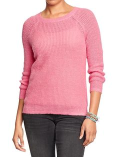 Women's Shaker-Stitch Sweaters Product Image