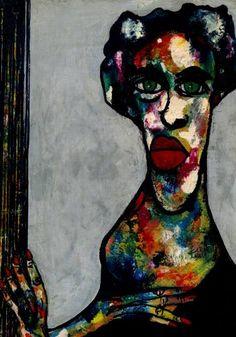 "Saatchi Art Artist CARMEN LUNA; Painting, ""68-RETRATOS Expresionistas. Marita."" #art"