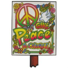 Hippie Party Supplies 60s | Party Decoration - Hippie 60's - 70's Cutouts (16in) Pk4 - Beistle