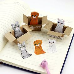 Cat Sticky Notes kitty post its cat memo pad cute cats
