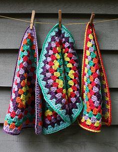 granny towels Tutorial༺✿Teresa Restegui http://www.pinterest.com/teretegui/✿༻