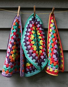 colorful dishcloths