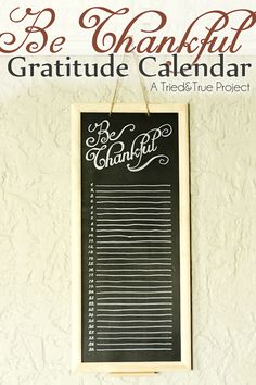 Make this DIY Be Thankful Gratitude Calendar this November! See tutorial on www.prettymyparty.com.