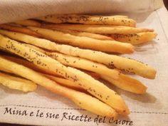 Mina e le sue Ricette del Cuore: #Grissini di semola di grano duro con lievito madre.  http://minaelesuericette.blogspot.it/2014/01/grissini-di-semola-di-grano-duro-con.html