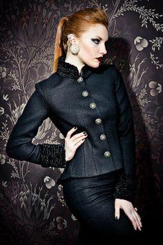 Schieago Jacket, Schiwago Skirt Www.lenahoschek.com Russian Fashion, Vintage Beauty, Types Of Fashion Styles, Feminine, Style Inspiration, Costumes, Stylish, My Style, Coat