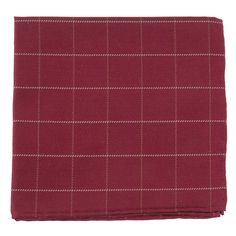 GOALPOST PANE POCKET SQUARES - BURGUNDY | Ties, Bow Ties, and Pocket Squares | The Tie Bar