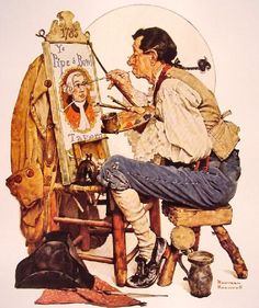 Norman Rockwell, Pipe and Bowl Sign Painter