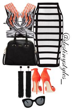 A fashion look from January 2016 featuring Alexander Wang tops, Balmain skirts en Brian Atwood sandals. Browse and shop related looks. Classic Outfits, Chic Outfits, Fashion Outfits, Womens Fashion, Fashion Ideas, Black Girl Fashion, Fashion Looks, Stylish Eve, Stylish Clothes