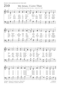 Baptist Hymnal 1991 210. My Jesus, I love Thee, I know Thou art mine - Hymnary.org