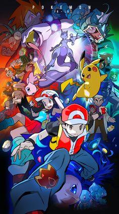 Pokemon - Kanto Region journey in Indigo League Pokemon Manga, Pokemon Mew, Pokemon Fan Art, Pokemon Rouge, Mega Pokemon, Original Pokemon, Pokemon Images, Pokemon Pictures, Digimon