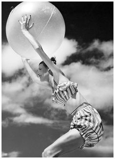 Photo by Richard Avedon 1944  -  Look at that bathing suit!!!!