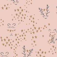 Pink Animal Cotton Fabric, Starbright Sparkler Fusion Art Gallery Fabrics, Kids Dressmaking Fabric B Cat Fabric, Pink Fabric, Fabric Art, Cotton Fabric, Fabric Sewing, Quilting Fabric, Art Gallery Fabrics, Pine Trees Forest, Fusion Art