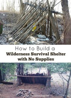 How to Build a Wilderness Survival Shelter with No Supplies. Shelter is your #1 survival priority, so knowing how to make a survival shelter is something that everyone should know.  Ideally, you would keep a tent or a tarp in your Bug Out Bag in case you ever needed to flee into the wilderness and make your own shelter. Making a tarp shelter is actually pretty easy once you've practiced it a few times (knot-tying skills come in handy here!)