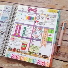 Colorful planner page Planner 2018, Planner Layout, Planner Pages, Printable Planner, Happy Planner, Planner Stickers, Planner Ideas, Monthly Planner, Printables