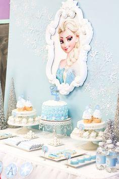 Sweet Table from a Frozen Dessert Table + Birthday Party via Kara's Party Ideas KarasPartyIdeas.com (16)