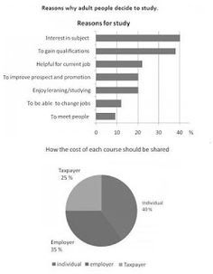 IELTS academic writing Task 1: The charts below show the result of a survey of ad...