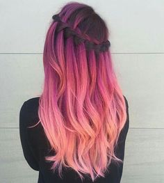 Pink ombre hair - Hair Do's or Do-Knots - Ombre Hair Color, Cool Hair Color, Purple Ombre, Ombre Hair Rainbow, Pastel Ombre Hair, Pink Color, Dyed Hair Ombre, Pastel Purple, Pastel Hair Colour