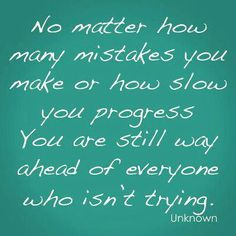 Progress and Mistakes