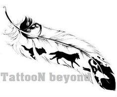 Temporary Tattoo - 4 types of Feathers Tattoos / Tattoo Flash - Wolf - Tattoo Body Art Tattoos, Tattoo Drawings, New Tattoos, Sleeve Tattoos, Cool Tattoos, Tatoos, Horse Drawings, Side Tattoos, Tattoo Sketches