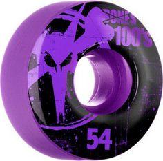 Skateboard Wheels Bones Skateboard Wheels Bones 100'small Og 54mm Purple 100'S OG