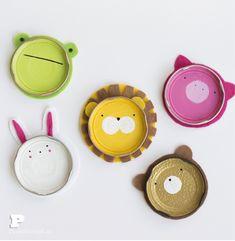 Jar Lid Animal Coasters by Pysselbolaget