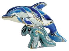 Rinconada Dolphin On Wave, Emerald Figurine by Rinconada, http://www.amazon.com/dp/B0051XSEHM/ref=cm_sw_r_pi_dp_-lP9rb0CR1HAV