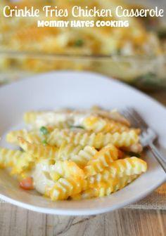 Crinkle Fries Chicken Casserole #SpringIntoFlavor #ad