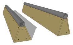 Wood and Steel Grind Rail Skateboard Rails, Make A Skateboard, Finger Skateboard, Scooter Ramps, Bmx Ramps, Skate Rail, Backyard Skatepark, Mini Skate, Mini Ramp