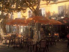 Sidewalk Cafe, Bastia, Corsica, France, Mediterranean  Photographic Print