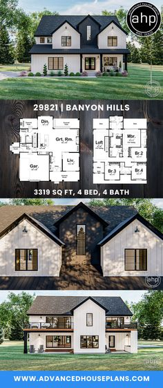 Modern Farmhouse Style, Farmhouse Design, Dream House Plans, House Floor Plans, Welcome To My House, Sims House, Model Homes, Curb Appeal, Great Rooms