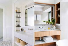 Built In Bathroom Storage, Bathroom Storage Solutions, Cabinet Storage, Bathroom Shelves, Bathroom Cabinets, Storage Shelves, Wall Mounted Medicine Cabinet, Medicine Cabinets, Bathroom Medicine Cabinet