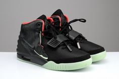 Nike Air Yeezy 2 South Beach Black Red Men Shoes