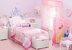 Disney Princess Castle with Colorful Birds and Squirrel-Large Wall ...