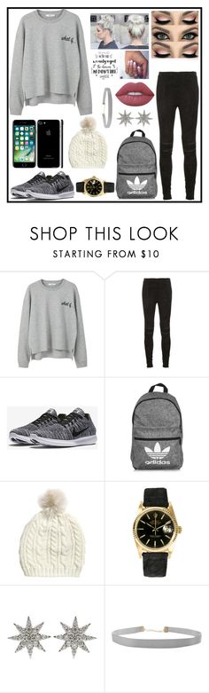 """What If...?"" by queen71304 ❤ liked on Polyvore featuring MANGO, Yves Saint Laurent, NIKE, adidas, Rolex, Bee Goddess, Humble Chic and Lime Crime"