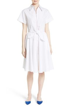 Free shipping and returns on Diane von Furstenberg Cotton Shirtdress at Nordstrom.com. A summery shirtdress of fresh white cotton takes classic feminine form in a fit-and-flare silhouette with knotted ties slimming the waist in an effortlessly casual way.